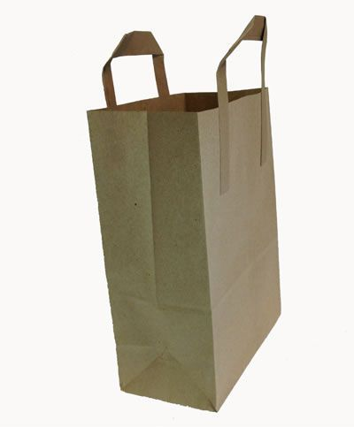 Kraft Paper Blockbottom Carrier Bags