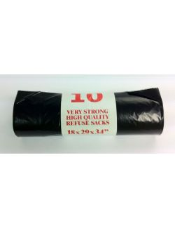 Black Refuse Bags on the Rolls 100 bags per box