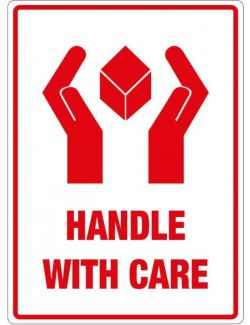 Handle With Care Labels - 108mm x 79mm
