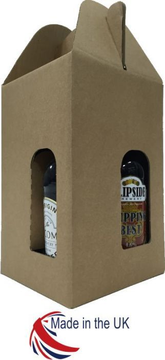 Corrugated Cardboard 4 Bottle 500ml Box 20/Pack