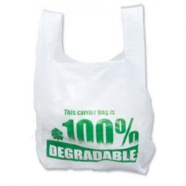 Degradable White Vest Carrier Bags