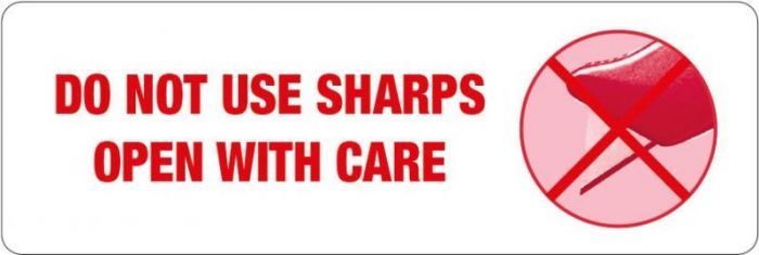 Do Not Use Sharps Labels
