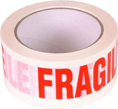 White Polyprop Tape Fragile 36/Pack