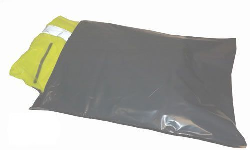 Poly Mailer Bag Grey 325mm x 475mm + 50mm lip 500`s 55 micron