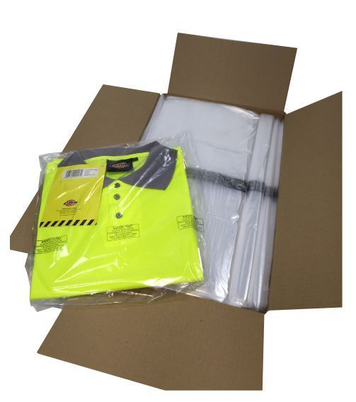 Polythene Bags With Printed Warning 250 x 300mm x 25 Micron 1000/Pack