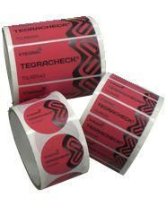 Tamper Evidence Security Labels - Red - Total Transfer Labels - Price Per Roll