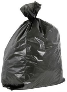 Black Refuse Bags 457 x 725 x 850mm 30mu 200 per box
