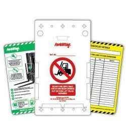 Forkliftag 10 x Holders, 10 x Inserts, 1 x Marker Pen