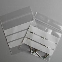 Clear Grip Seal Bags With (WOP) (G129) 187mm X 187mm 1000's