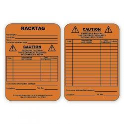 Racktag Insert - Caution