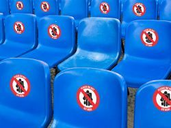 Social Distancing Labels Chairs