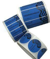 Tamper Evidence Security Labels - Blue - Non Transfer Labels - Price Per Roll